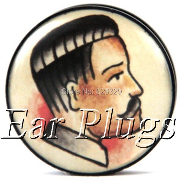 Wholesale 60pcs Old School Man plug gauge acrylic screw ear plug flesh tunnel body piercing jewelry mix size 6mm-25mm A0507