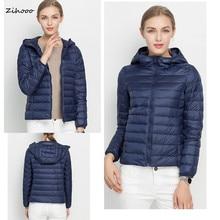 2016 Women Down Coat Winter Ultra Light Down Jacket Winter Coats Down Parkas White Duck Down Warm 18 Colors Plus Size D01