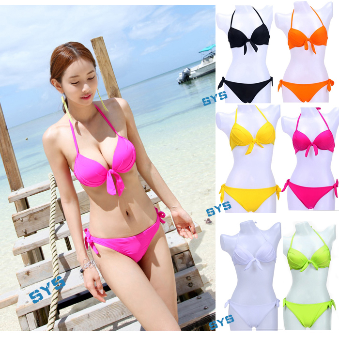 d8070ad9d9cd5 Beach Wear Swimwear Bathing Suit 2014 Cute Sexy Women Bikinis Set Neon  Color Swimsuit