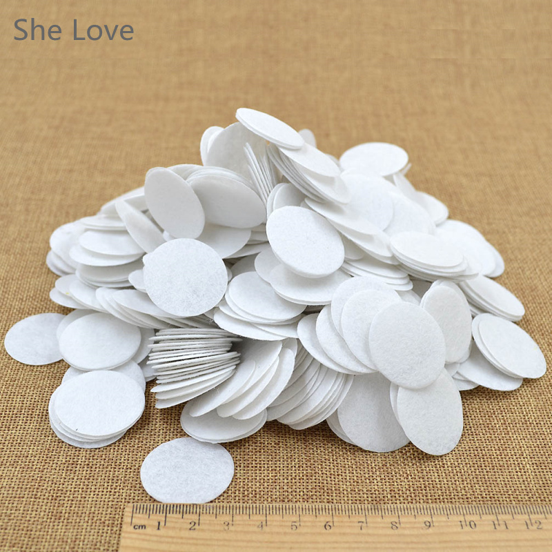25mm White Felt Circle Die Cut Appliques DIY Cardmaking Craft Round Shape