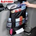 Kayme nuevo coche multifunción organizador asiento trasero fresco bolsa aislante auto sostenedor de la bebida con bolsa de malla de almacenamiento de bolsillo para los niños