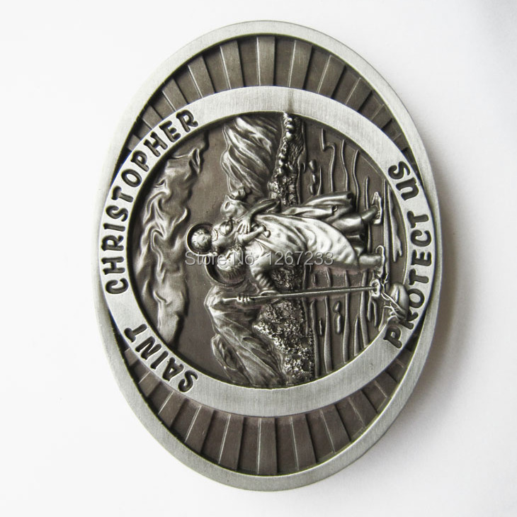 Distribute Belt Buckle Original Saint Christopher Belt Buckle Free Shipping 6pcs Per Lot Mix Style is