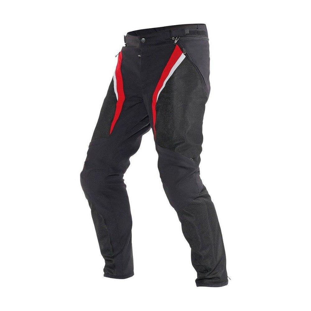 NEW 2018 Dain Drake Super Air Men's Biker Trousers Sport Summer Touring Black/Red Men's Multi Function Moto Trousers Racing Pant