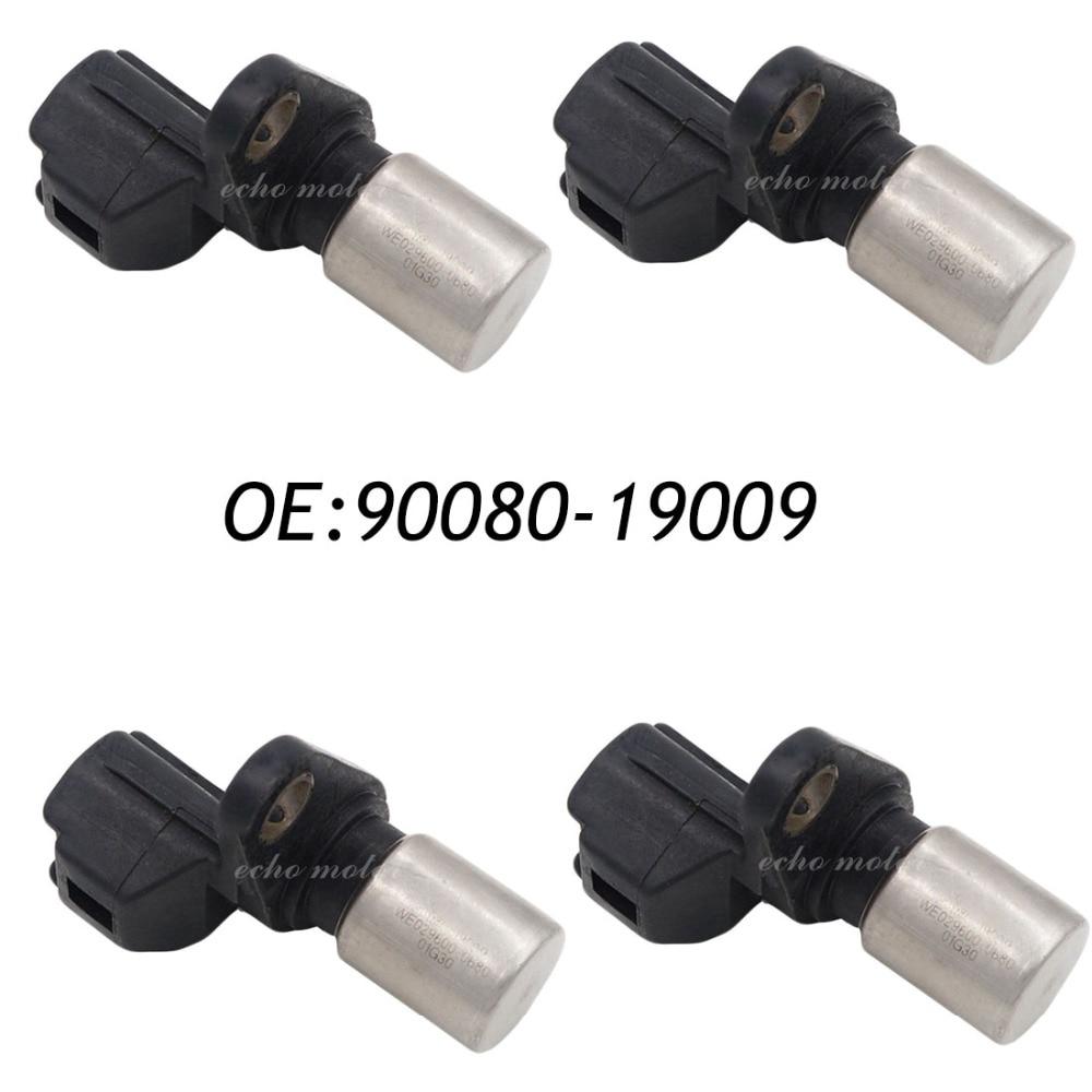 New 4PCS 90080-19009 Camshaft Crankshaft Position Sensor For Toota Corolla Camry Avalon RAV4 Avensis Verso Lexus ES300 RX300 new 4pcs camshaft position sensor for mitsubishi lancer l200 2 4l montero sport mr985041