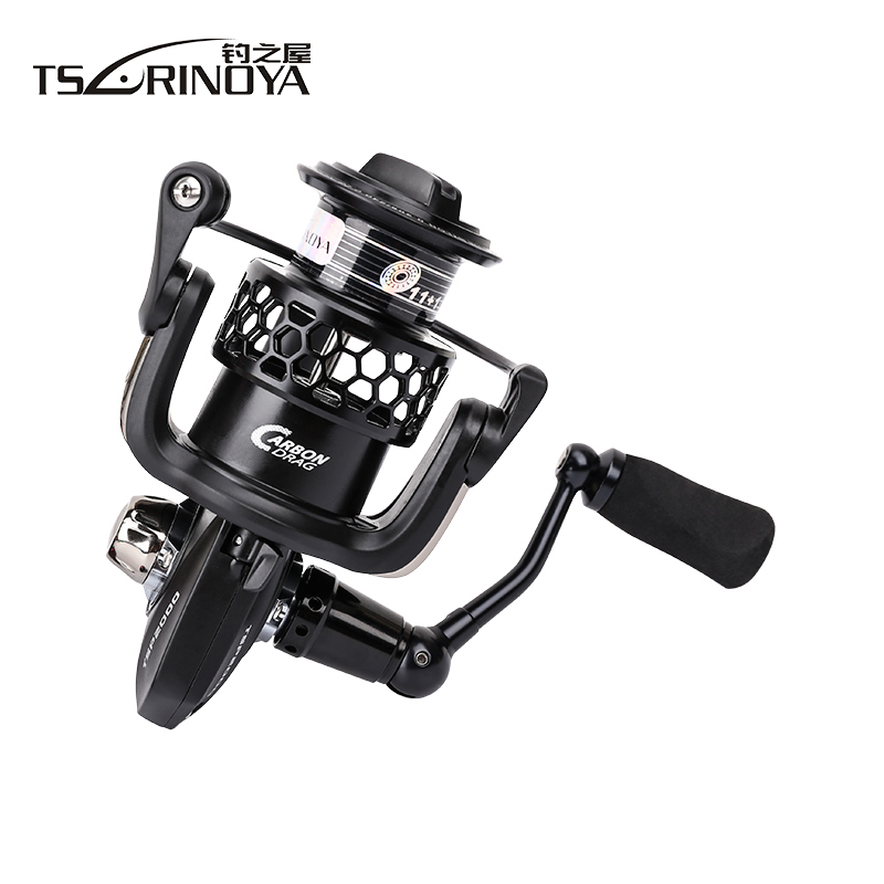 TSURINOYA TSP3000 Full Metal Spinning Fishing Reel 11+1BB 5.2:1 Lure Wheel Carretilha De Pesca Peche Saltwater Carp Fishing Coil tsurinoya fs3000 fishing spinning reel 9 1bb 5 2 1 metal spools fishing lure reels max drag 7kg carretilha de pesca direita
