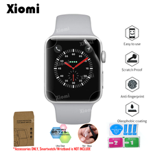 For iWatch Apple Watch Series 1/2/3/4 38mm 42mm 40mm 44mm TPU Full Coverage Protective Film Screen Protector Cover