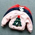 2016 Nova Outono Inverno Crianças Meninos Cashmere Quente Camisola Gola O Pescoço Árvore De Natal Do Bebê Meninos T-shirt Longo Da Luva 3 Cores