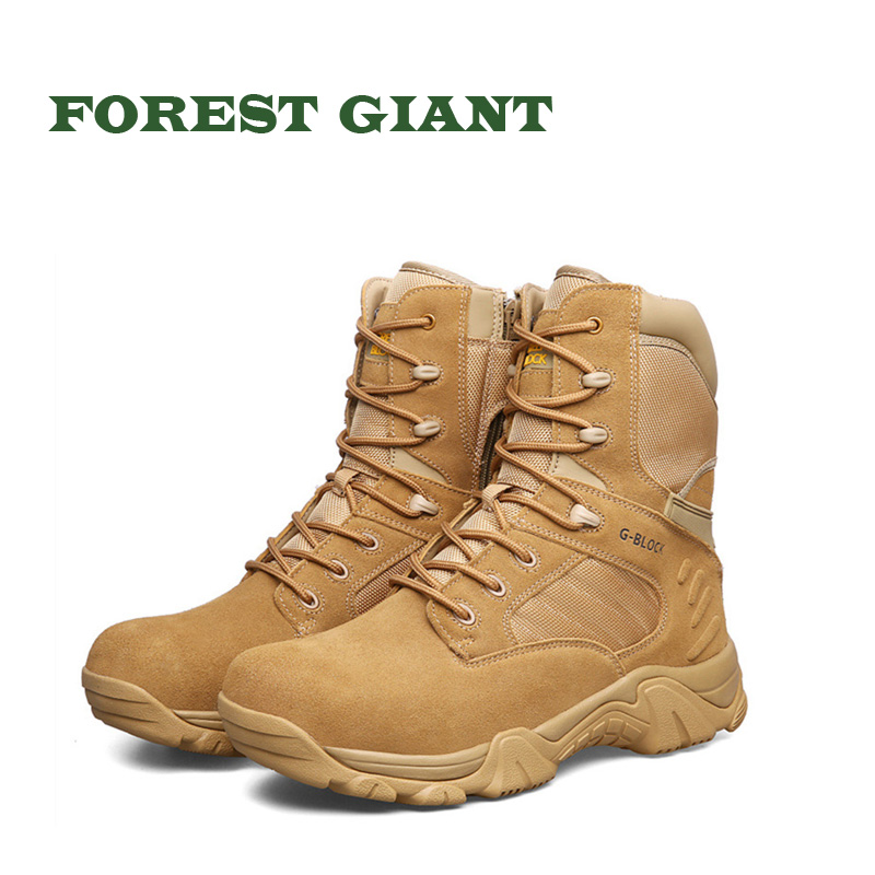 FOREST GIANT Men Military Boots Special Force Tactical Desert Combat Ankle Boats Men Army Work Shoes Leather Men Snow Boot 31007 цены онлайн