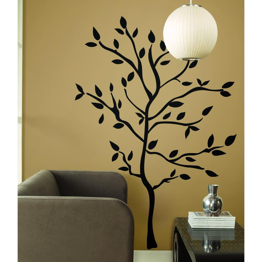 Black Tree Branch  Wall Sticker Western Engraving Room Sticker Vinyl Decals Art Home Decoration