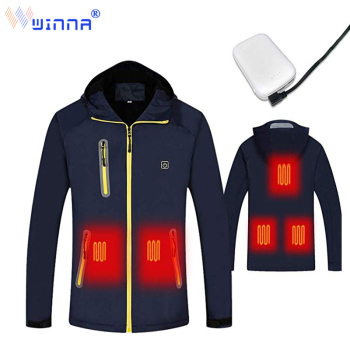 New Heating Jacket with Power Bank Thermal Windproof  Hooded Jacket Winter Outdoor Hiking Fishing Skiing Waterproof Wind Break