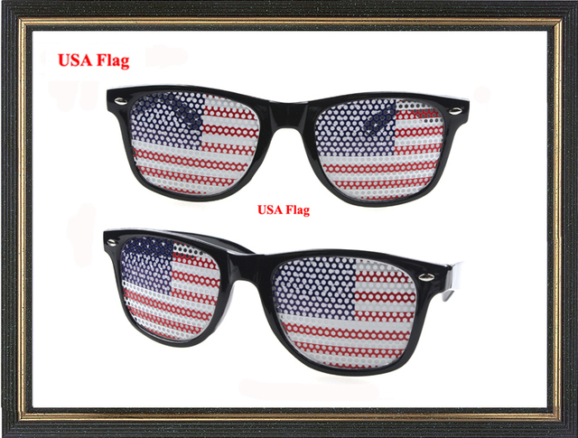 Usa flag sunglasses stickers logo glasses fashion party glassespinhole lens sunglasses custom logo glassesprinting