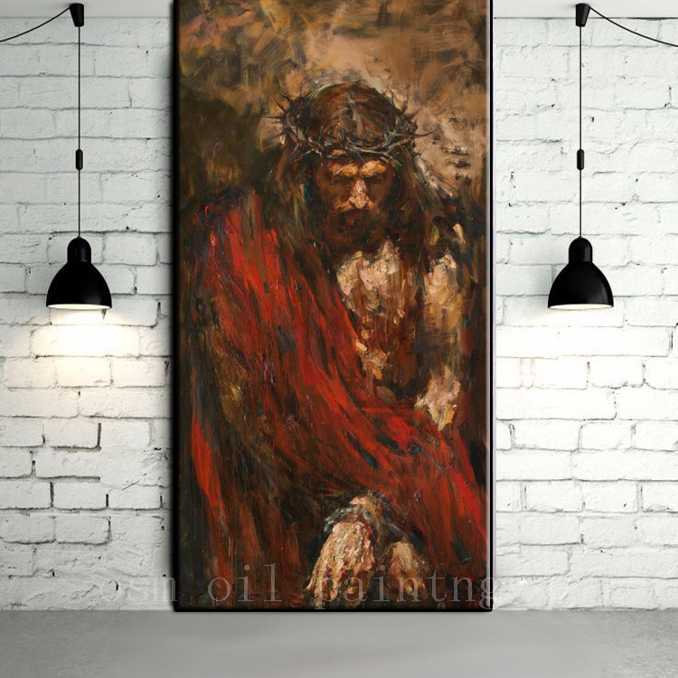 Jesus christ abstract art images for Buy mural paintings