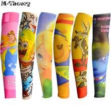 M-theory 6 pcs Kid Size Cartoon 3D Tattoo Sleeve Arm Stockings Leggings Boys Girls Biker Rocker Tatoo Body Arts Makeup Tools