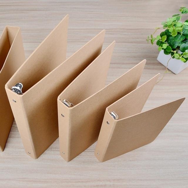 Creative vintage A4/A5/B5/A6  kraft folder documents( no sheets) 4 design kraft binder with slip case box office school supplies
