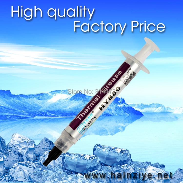 Prix pour Meilleur vendeur nano CPU et GPU & LED silicone conducteur thermique pâte thermique graisse thermique composé HY880 3g tube