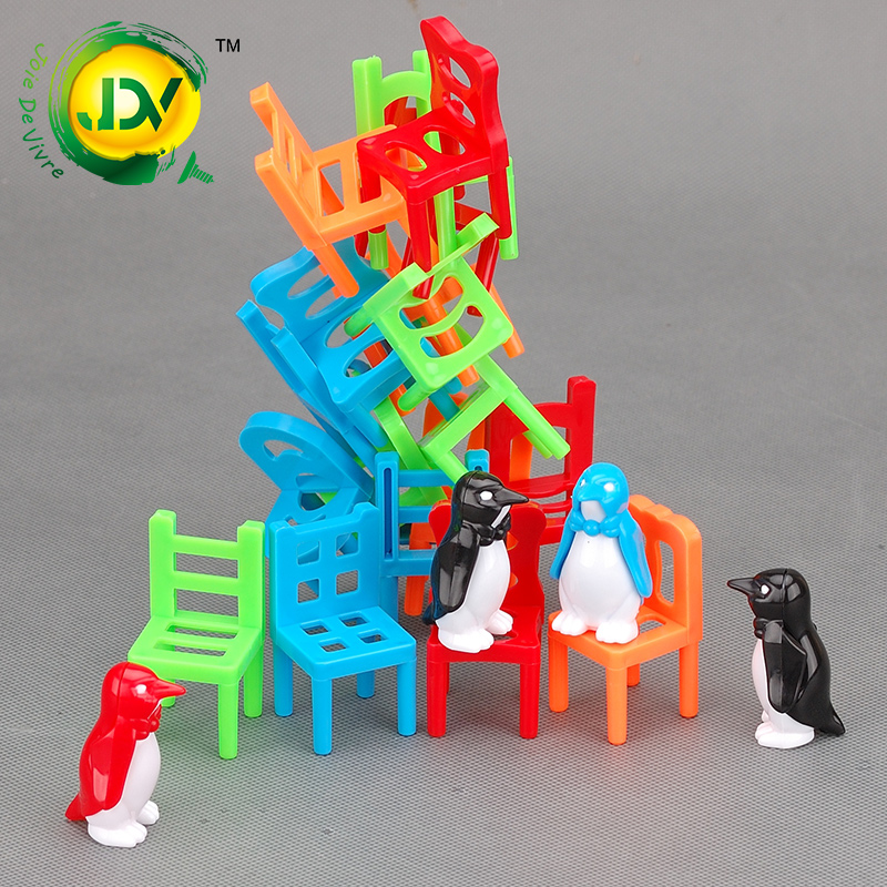 Chair joy Stacked music Puzzle Game Toy action Fun Family lucky balance gift for Children 's Day Piles up Indoor activities children funny lucky game gadget joke toy projectile fun