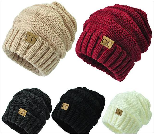 7cb9093bd84 Fashion Skullies Beanies cap CC Labeling Knitting Wool Cap Hip Hop Street  Dance Streetball cap Manufacturers direct sales. Price