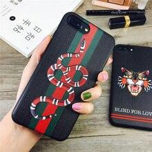 Лидер продаж для IPhone X силиконовые, крышка Роскошные Сетка помощи змея мягкий чехол для телефона iPhone 6 6plus 7/8 плюс встроенная дело