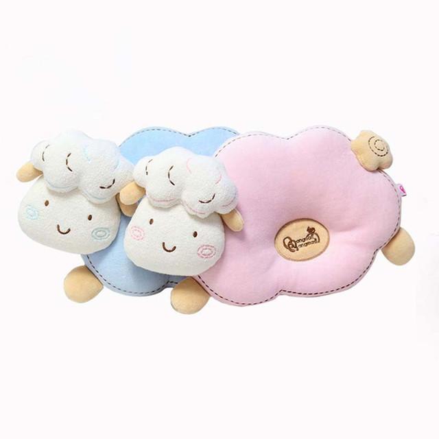 Bebê Moldar Travesseiro Bebê Dos Desenhos Animados Anti-enxaqueca Suporte Memory Foam Pillow Prevent Cabeça Chata Bebê Recém-nascido Almofadas Travesseiros Crianças