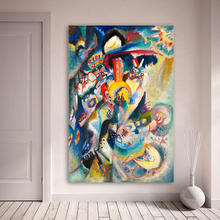 лучшая цена Wassily Kandinsky Abstract Oil Painting Canvas Painting Wall Art Pictures for Living Room MOSCOW II Home Decor