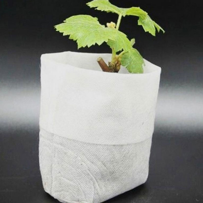 100pcs Different Sizes Biodegradable Non-woven Nursery Bags Plant Grow Bags Fabric Seedling Vegetable Flower Pot Container Bags