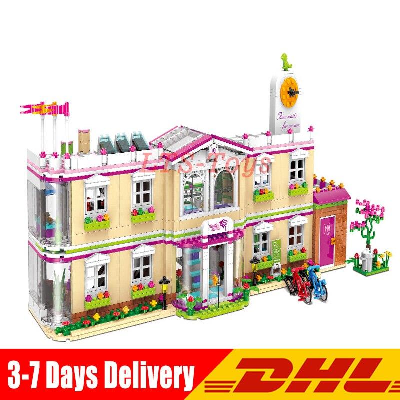 XINGBAO 12001 1750 Pcs Ville Fille Série Blocs de Construction La Heureux Enseignement Building Set Briques Drôle Jouets pour Enfant Filles