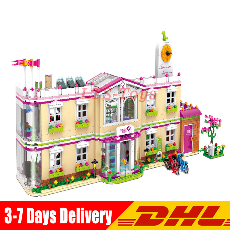 все цены на XINGBAO 12001 1750Pcs City Girl Series Building Blocks The Happy Teaching Building Set Bricks Funny Toys for Child Girls
