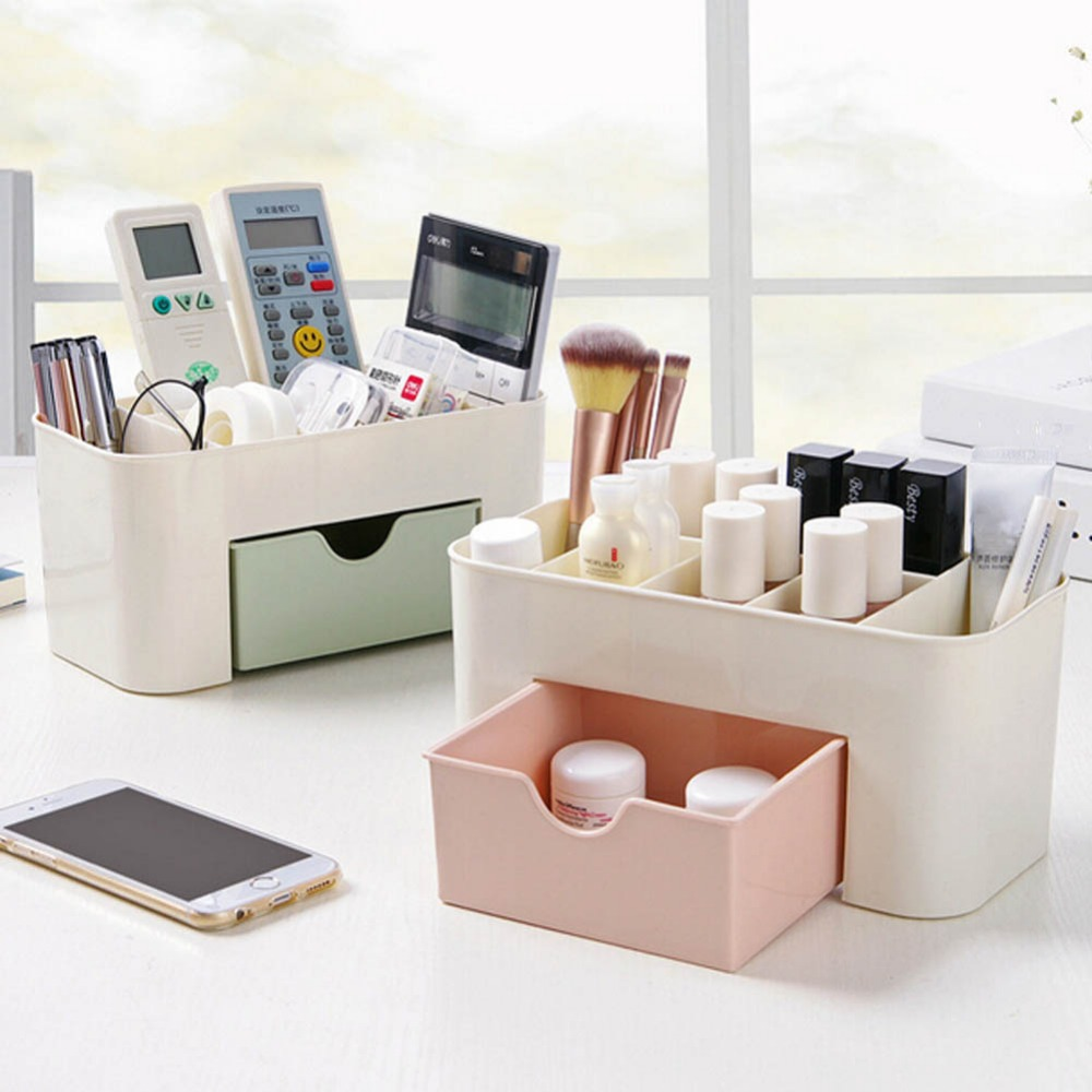 freeshiping Cosmetic Jewelry Organizer Office Storage Drawer Makeup Case Plastic Makeup Brush Box Lipstick Control Holder