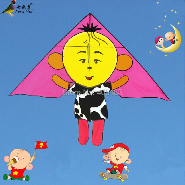 Free Shipping Outdoor Fun Sports Children Carton Kite With Flying Tools