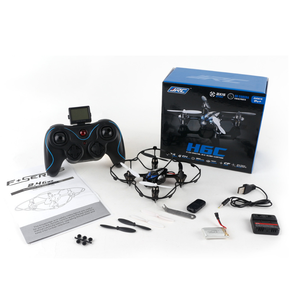 Minitudou H6C 2.4G 4CH 6-Axis Mini RC Drone Con Cámara 2mp hd control remoto hel