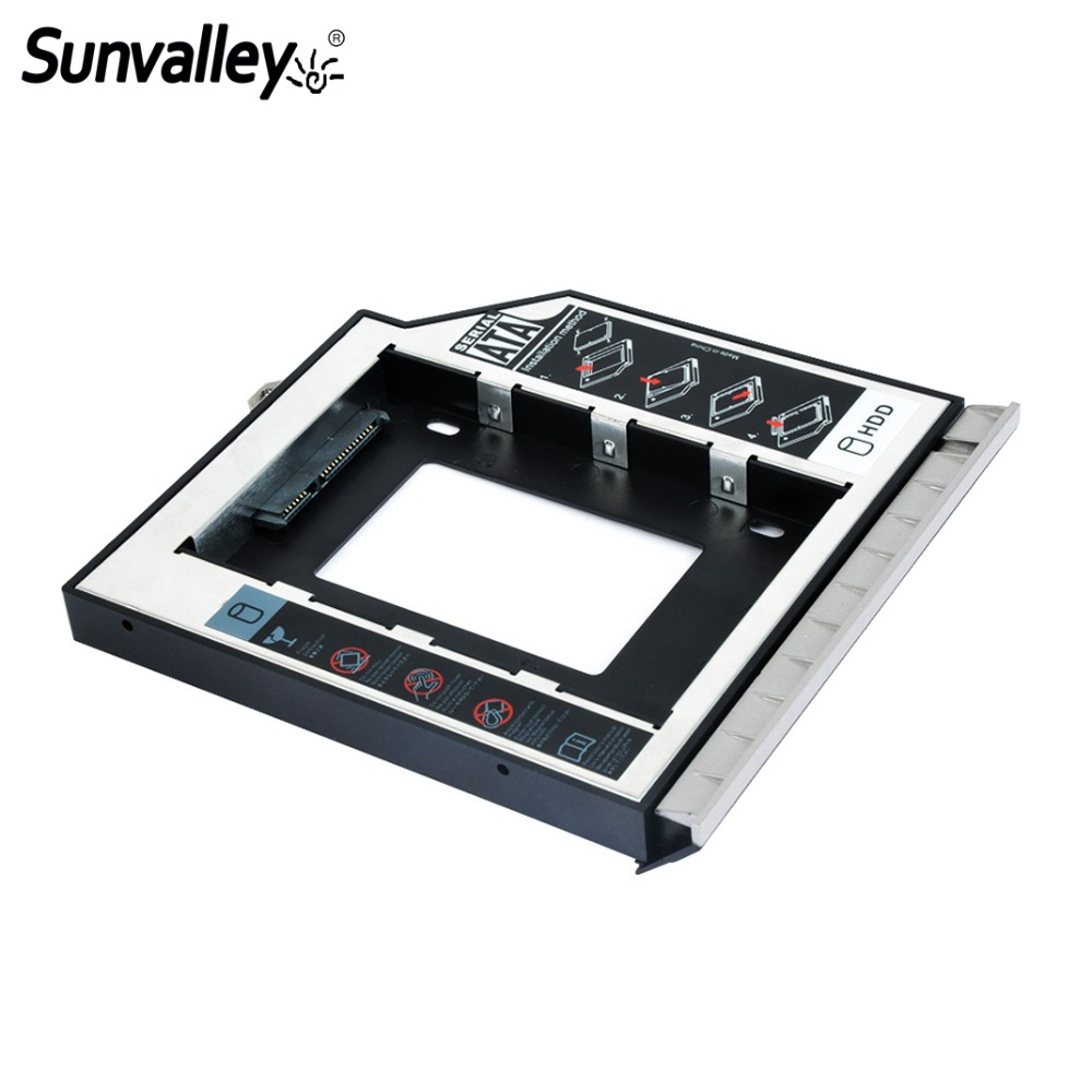 Sunvalley 12.7mm 2nd HDD Caddy SATA To SATA Eexchange Hrad Disk Drive Enclosure For HP 8460P