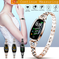 Crystal Luxury Smart Watch Women Girl Pedometer Sport Watch Smart Bracelet Heart Rate Monitor Waterproof Watches For Android iOS