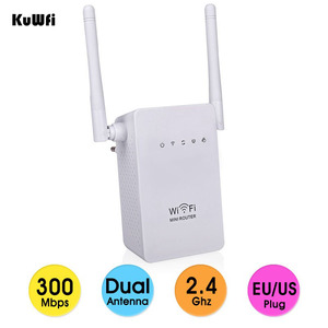 Image 1 - EEE802.11 b/g/n Standard 2.4Ghz 300Mbps Wireless Mini Router AP Repeater for wifi Signal Booster Support WPS 2*3dBi Antenna