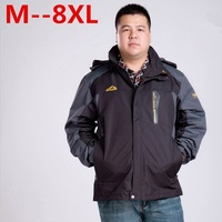 플러스 사이즈 10XL 8XL 6XL 5XL 4XL 겨울 재킷 남성 착실히 보내다 양털 두껍게 솜 패딩 다운 파카 코트 남성 방수 재킷