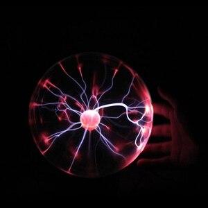 """Image 3 - 3 """"USB магический шар Электростатическая сферическая лампа хрустальная лампа настольная лампа Рождественский подарок для вечеринки"""