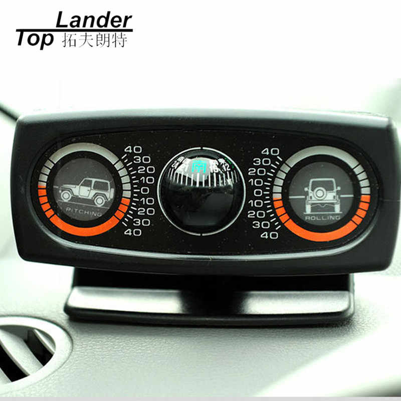 Vehicle Compass Slope Measure Car Guide Ball Inclinometer Level Multifunction Car Vehicle Compass Car Inclinometer