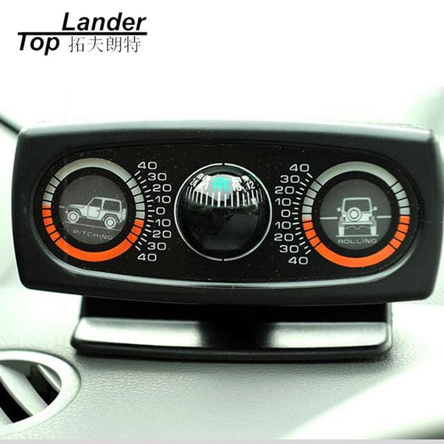 תכליתי רכב מצפן מדרון למדוד רכב אביזרי כלי מדריך כדור רמת גל נטייה מכשיר רכב Inclinometer