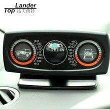 Wielofunkcyjny kompas samochodowy nachylenie środek akcesoria samochodowe narzędzie kulka prowadząca poziom fali pochylenie Instrument inklinometr pojazdu