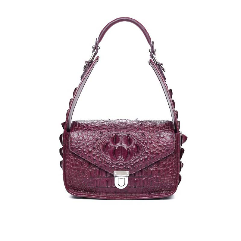 Gete 2016 new real crocodile women handbag personality single shoulder bag handbag inclined shoulder bag ladies handbags