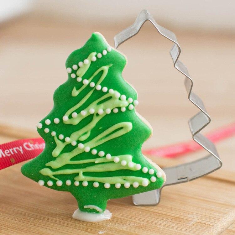 rbol de navidad en forma de molde de aluminio de la galleta torta de la