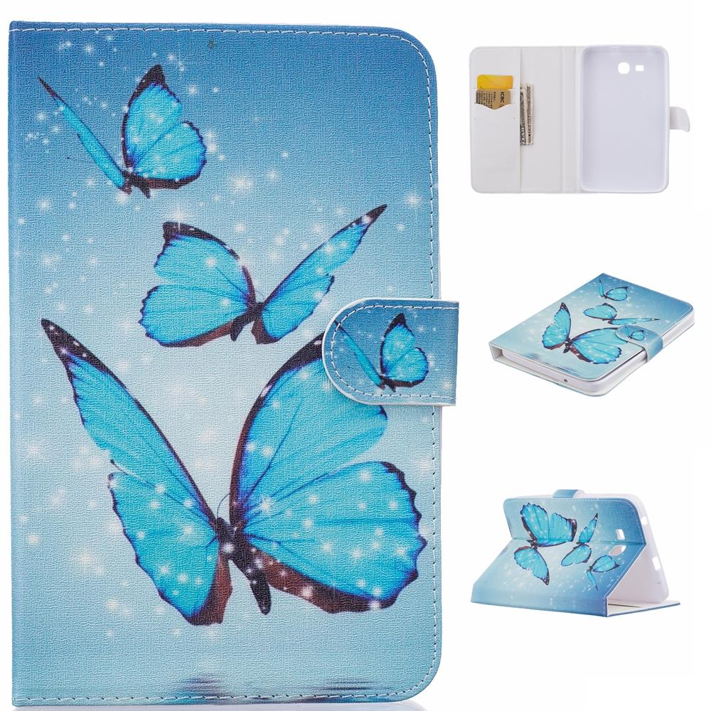 For Samsung Galaxy Tab A T350 T355 T550 T555 Tablet Butterfly Stand Case Cover For Galaxy Tab 4 T230 T231 T530 T531 Tab E T560 #