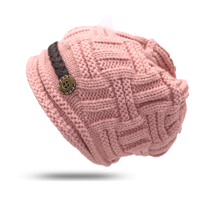 Women's Hats Winter Warm Rageared Baggy Cap Skullies Beanie Knit Crochet Hat Caps Casual Women Hats Female Autumn Beanies Bonnet 2017 new lace beanies hats for women skullies baggy cap autumn winter russia designer skullies