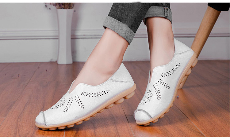 AH 1866-1-2019 Summer Women Loafers Genuine Leather Woman Shoes-11