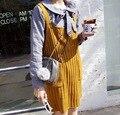 Детские девушки популярные шерсть слип платья дети весна лето прекрасный ребра брекеты юбки детей искусства стиль одежды
