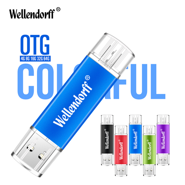 Coloful Metal OTG pen drive 4gb/8gb/16gb/32gb/64gb/128gb small swival Flash Drive USB Flash Drive for Mobile Phone/PC