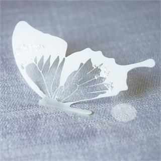 Crystal Looking Butterfly Sticker (18pcs)