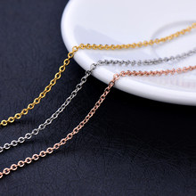 316L stainless steel silver gold rose gold color hammer cross chain necklace fashion jewelry for women Fit pendant length 45+5CM(China)