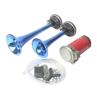 12V 178dB Trumpet for Motorcycle Boat Truck Super Loud Dual Tone Auto Car Air Claxon Horn High Output Compressor Set