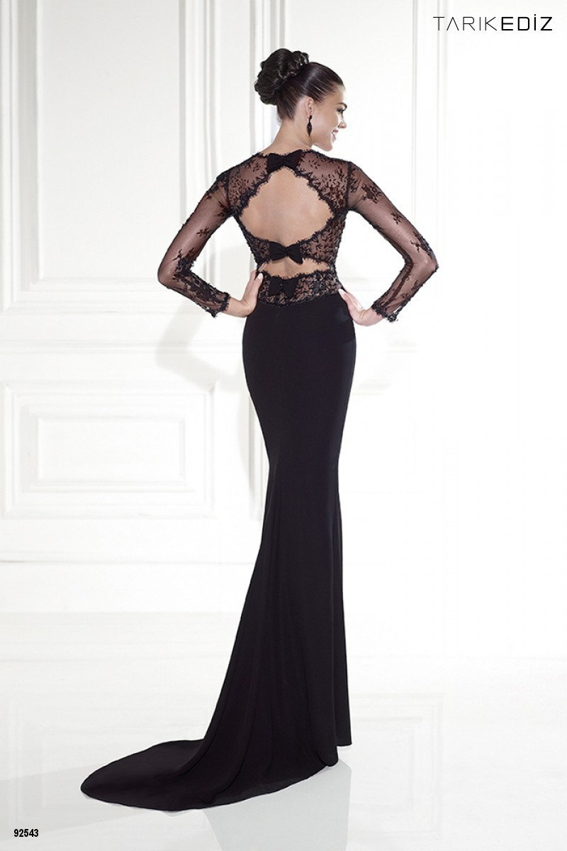 Evening Dress Long Sleeve 2017 Summer Black es Sheer Gowns Square ...