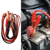 2M 500Amp Car Battery Booster Power Wire Line Emergency Cable Line Cable Clip Durable Auto Fire